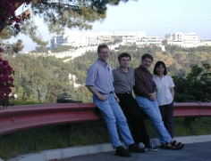 In front of Getty Museum