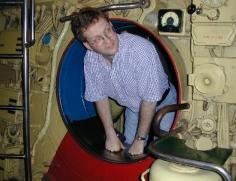 Jan at Scorpion Submarine